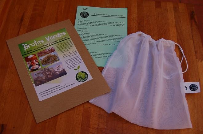 Bolsa Brotes Verdes lista para enviar...